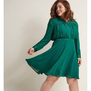 ModCloth Emerald Shirt Dress - Size 3x